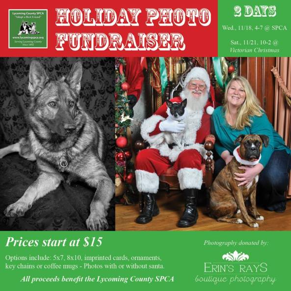SPCA Photo wih Santa
